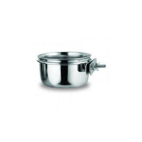 Comedero de acero inox. con soporte 300 ml Copele