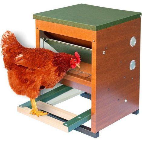 Comedero gallinas apertura mecánica 10 Kg