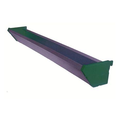 Comedero Jaula Pollos Gallinas Chapa Galvanizada y Plástico 1,20 m