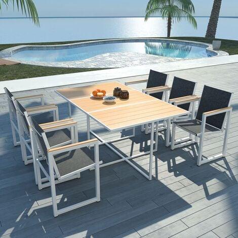 conjunto de mesa y sillas de jardín de aluminio