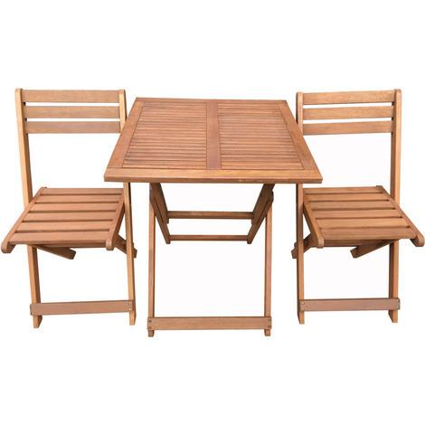 Comedor/Salón de jardín en madera exótica Hanoi- Color Maple - Mesa ...