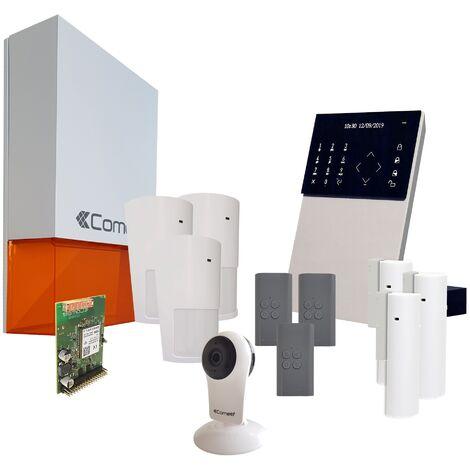 Comelit - Pack alarme connectée Secur Hub 3G + Caméra Wifi - KSW3234LF Kit 2 - Blanc