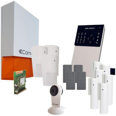 Comelit - Pack alarme connectée Secur Hub 3G + Caméra Wifi - KSW3234LF Kit 4 - Blanc