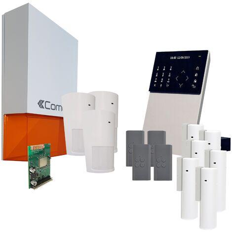 Comelit - Pack alarme connectée Secur Hub - KSW3223LF Kit 4 - Blanc