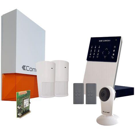 Comelit - Pack alarme connectée Secur Hub - Transmission IP + Module GSM + Caméra Wifi - KSW3234LF - Blanc