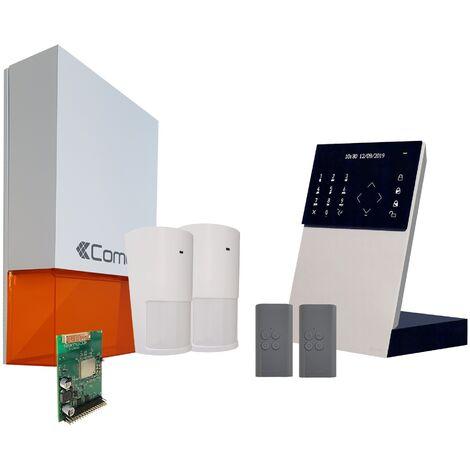 Comelit - Pack alarme connectée Secur Hub - Transmission IP + Module GSM - KSW3223LF - Blanc