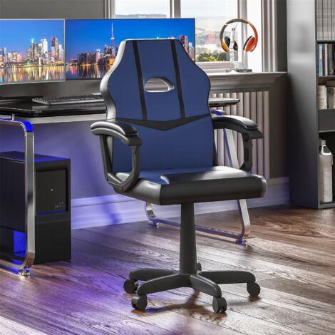 Comet Racing Gaming Chair, Blue & Black