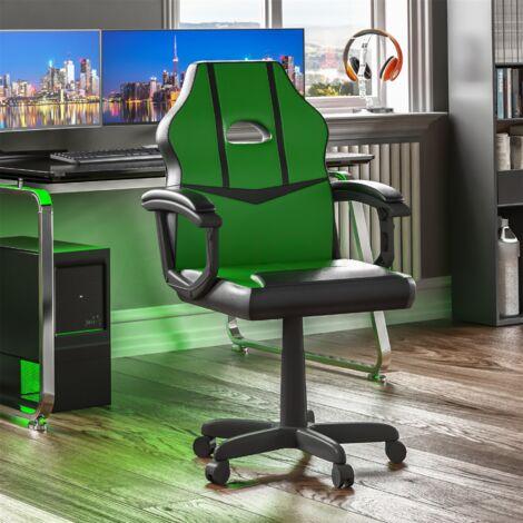 Comet Racing Gaming Chair, Green & Black