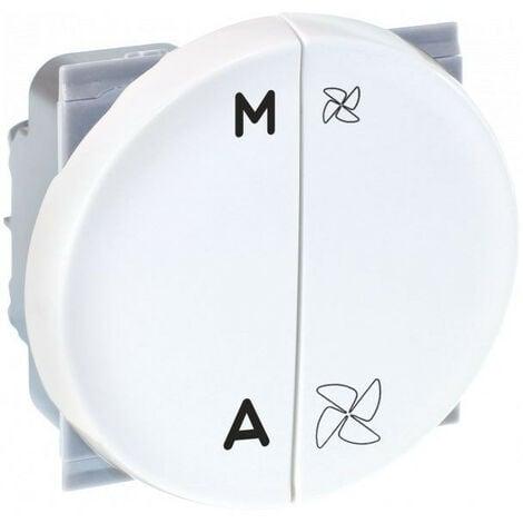 COMETE Cde VMC 2 vitesses + Marche/Arrêt blanc (61125)