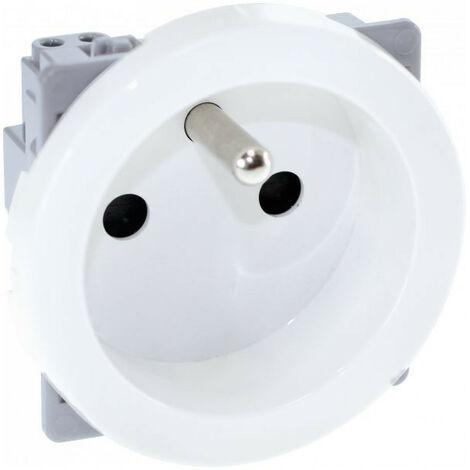 """main image of """"COMETE Prise 2P+T rénovation blanc (61158)"""""""