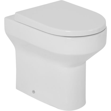 Comfort Height Housing Unit Bathroom Furniture Back to Wall Toilet Pan with Soft Close Seat