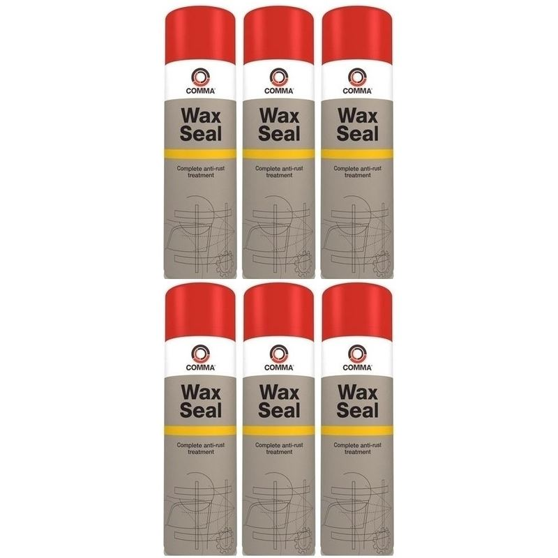 Image of Wax Seal Anti Rust Treatment & Underbody Protection WS500M 500ml Aerosol 6 Pack - Comma