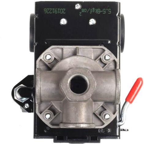 Commande de pressostat de compresseur d'air de qualite Lefoo 95-125 PSI 4 ports