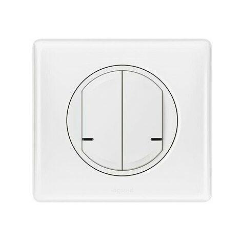 Commande double sans fil pour éclairage, prise connectée ou micromodule - Céliane with Netatmo - Blanc