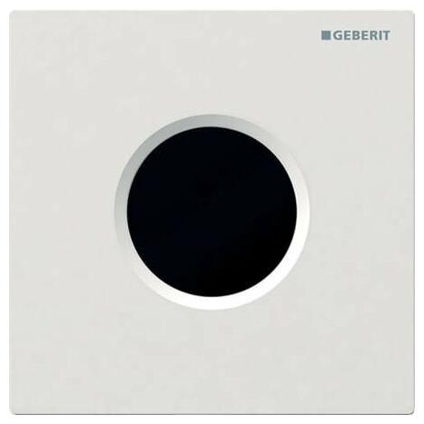 Commande d'urinoir Geberit avec déclenchement électronique de la chasse d'eau, à piles, plaque de recouvrement de type 01, Coloris: blanc-alpin - 116.031.11.5