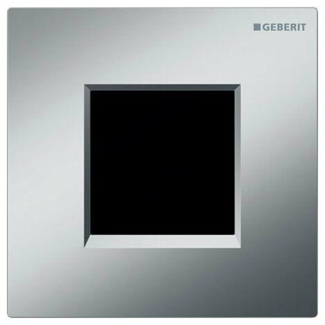 Commande d'urinoir Geberit avec déclenchement électronique de la chasse d'eau, à piles, plaque de recouvrement de type 30, Coloris: chromé mat - 116.037.KN.1