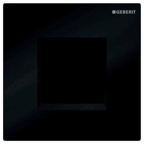 Commande d'urinoir Geberit avec déclenchement électronique de la chasse d'eau, à piles, plaque de recouvrement de type 30, Coloris: noir foncé RAL 9005 - 116.037.KM.1