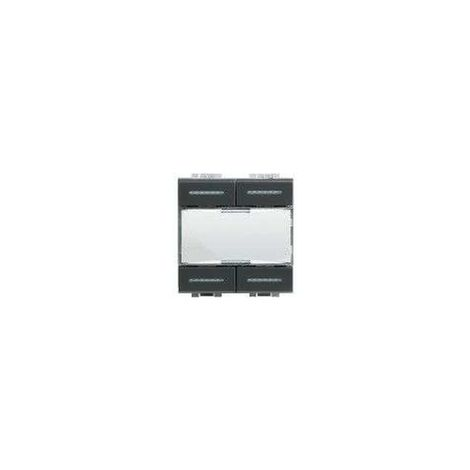 Commande KNX Livinglight 4 touches / 4 appuis anthracite BTICINO L4680KNX