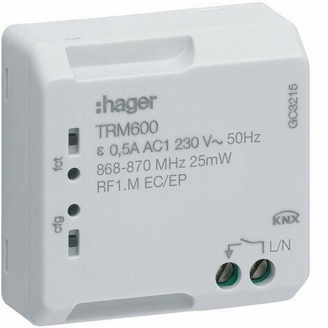 Commande pour télérupteur et minuterie KNX Radio (TRM600)
