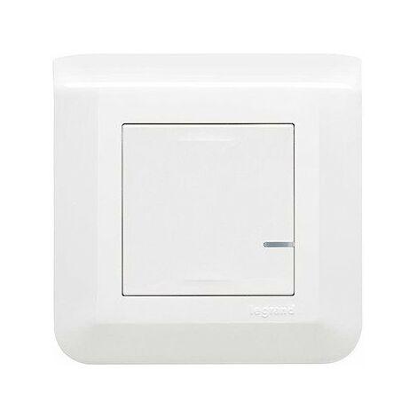 Commande sans fil pour éclairage, prise connectée ou micromodule - Mosaic with Netatmo - Blanc