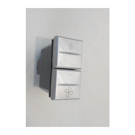 Commande VMC 2 positions + Stop 1 module alu (23314) AXOLUTE BTICINO HC4027VMC