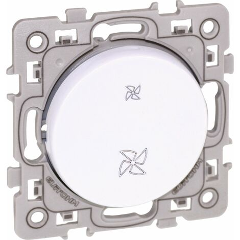 Commande VMC 2 vitesses Square Blanc / Eurohm