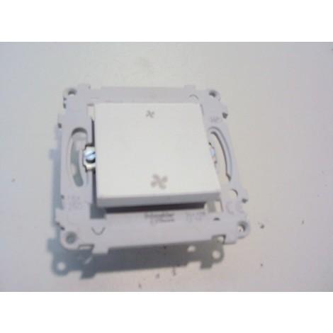 Commande VMC sans postion arret blanche sans plaque ALVAIS SCHNEIDER ALB82058