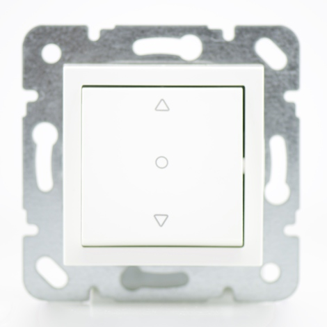 Commande volet roulant blanc - (Méca+touche) gamme Karre Novella