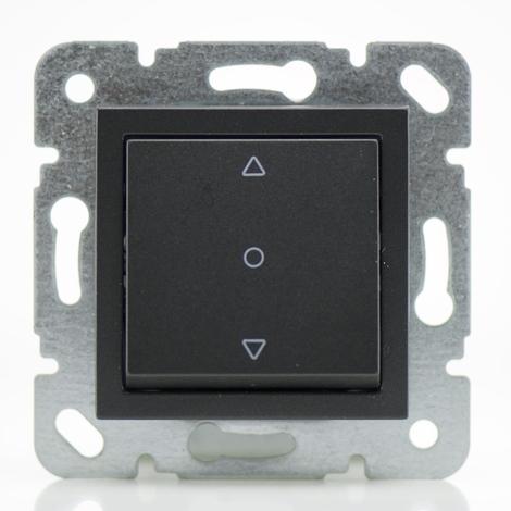 Commande volet roulant noir - (Méca+touche) gamme Karre Novella