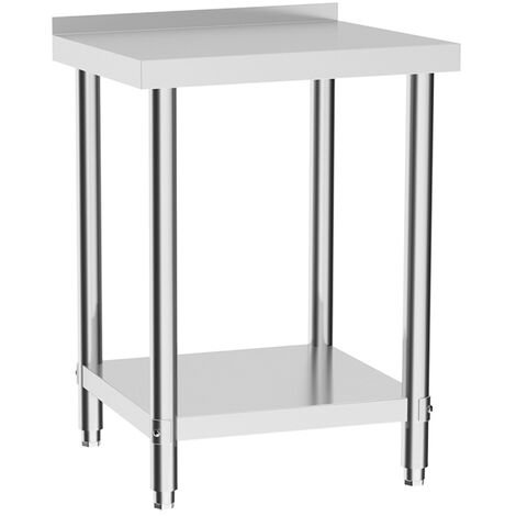 Commercial Catering Kitchen Table Stainless Steel Prep Work Bench Shelf