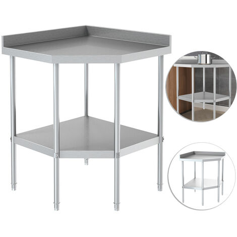 Commercial Kitchen Corner Unit Table Stainless Steel Work Surface Bench