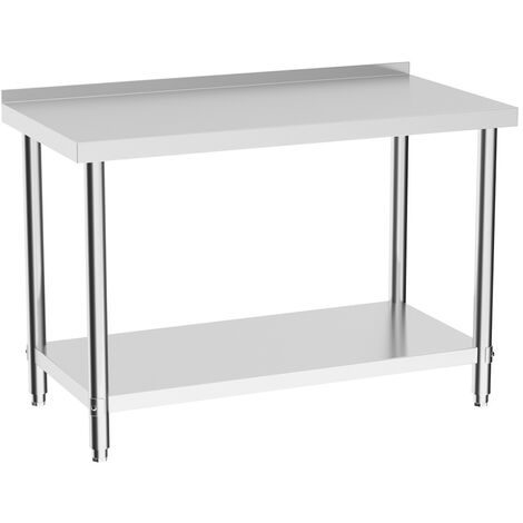 Commercial Stainless Steel Kitchen Food Prep Work Table Bench Wide Worktop with Backsplash