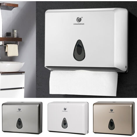 Commercial Toilet Paper Towel Dispenser Box Bathroom Wall Mounted Tissue Holder White