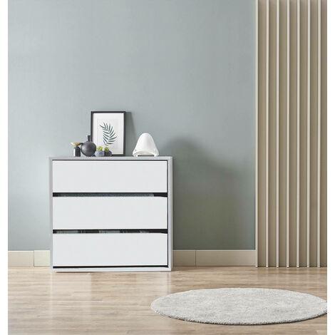 "main image of ""Commode Blanc mat 3 tiroirs | Blanc"""