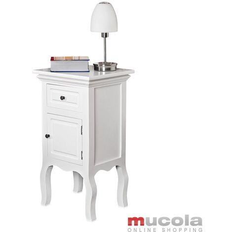 commode de chevet armoire de chevet blanche Shabby table de chevet maison de campagne NOUVEAU