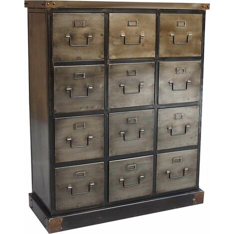 Commode industrielle 12 tiroirs