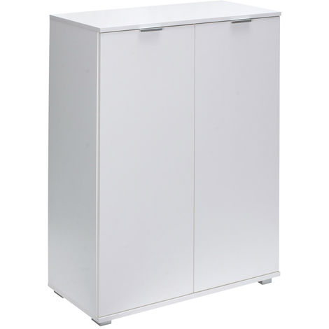 Commode Sideboard Highboard Chest of Drawers White Multi-Purpose File Shelves