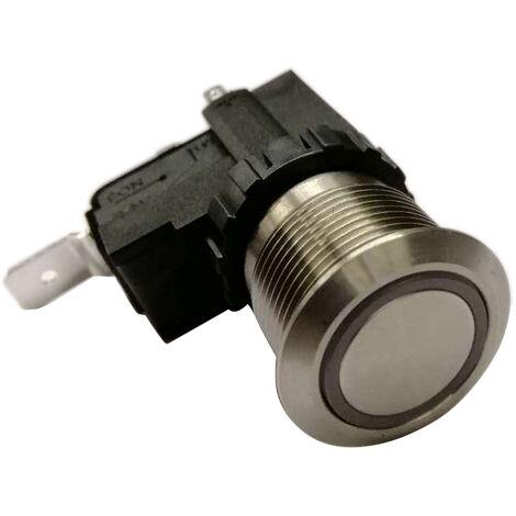 Commutateur à bouton-poussoir, Lock lumineux, Interrupteur marche/arrêt 1 pôle, 16 A, 26 A, Montage panneau