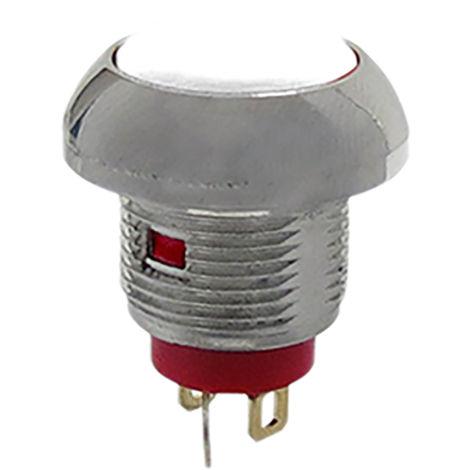 Commutateur à bouton-poussoir, Momentané lumineux Bipolaire à deux directions (2RT), 5 A, Montage panneau