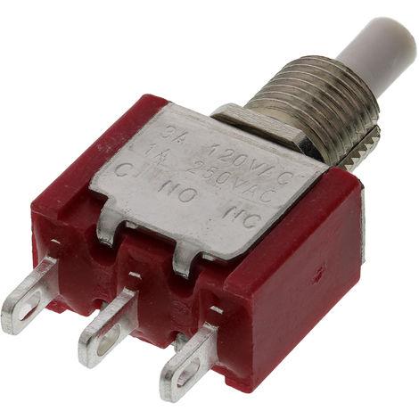 Commutateur à bouton-poussoir, Momentané, Unipolaire à deux directions (1RT), 3 A @ 120 V c.a., Blanc