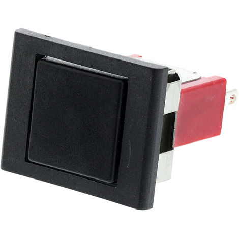 Commutateur à bouton-poussoir, Momentané, Unipolaire à deux directions (1RT), 3 A @ 120 V c.a., Noir