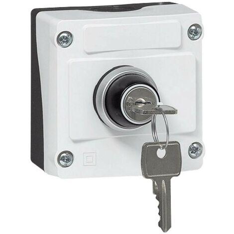 Commutateur à clé BACO LBX12610 100516 en boîtier noir, gris décrochage par clef 1 pc(s)