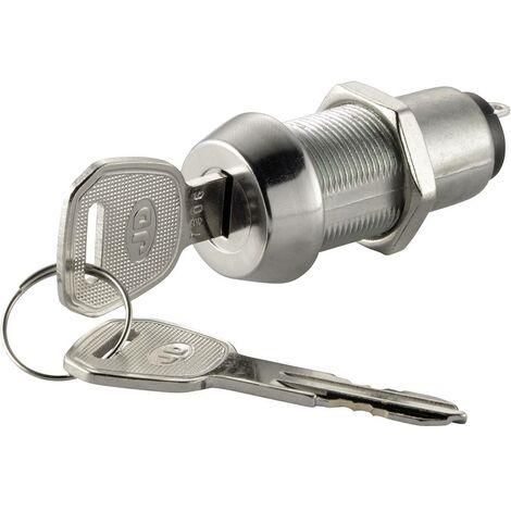 Commutateur à clé TRU COMPONENTS NO.8212 750662 30 V 3 A 1 x Off/On 1 x 90 ° 1 pc(s)
