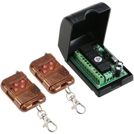 Commutateur De Commande A Distance Sans Fil, Avec 2 Telecommandes Sans Fil