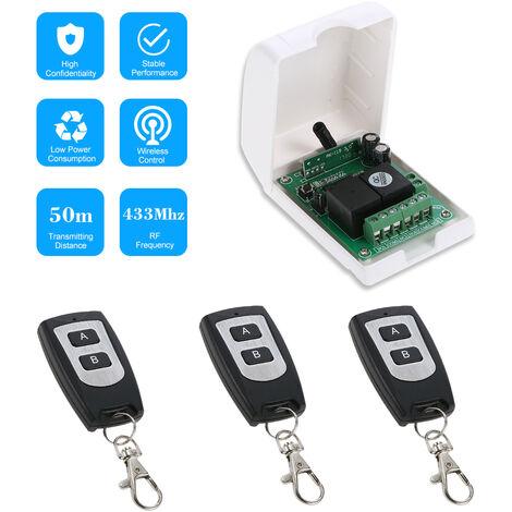 Commutateur De Commande A Distance Sans Fil, Avec 3 Telecommandes Sans Fil