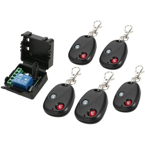 Commutateur de telecommande de petite valise acanal unique DC 12V avec 5 telecommandes 12 + AK-BF02 * 5