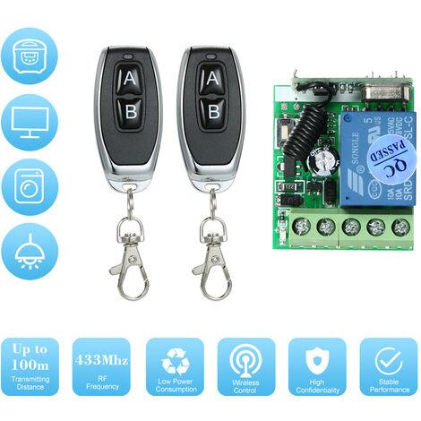 Commutateur de telecommande de petite valise transparente a un canal DC 12V Controle d'acces / serrure de commande electrique / commutateur de telecommande a verrouillage magnetique / controle du moteur / controle de la lampe LED Modele: AK-RK01SY + AK-J0