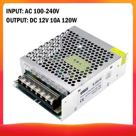 Commutation Regulee Par Transformateur De Tension, Ca 100-240V A Cc 12V 10A 120W