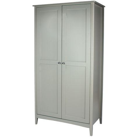 Como Grey Painted 2 Door Wardrobe