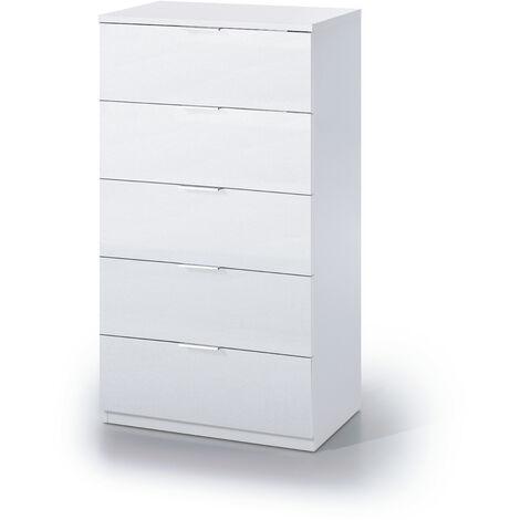 Cómoda 5c Blanco Artik 110x60x40 cm
